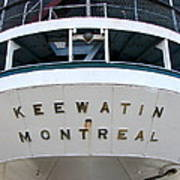 S.s. Keewatin Stern Poster