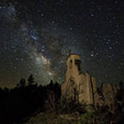 St Aloysius Ruin And The Milky Way Poster