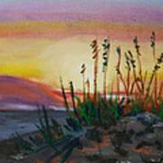 Beach At Sunrise Poster