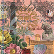 St. Augustine Florida Vintage Collage Poster
