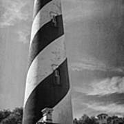 St Augustine Lighthouse Bw Poster