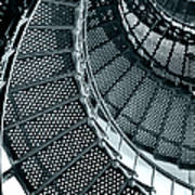 St Augustine Lighthouse Staircase Poster