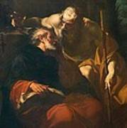 St. Benedict And A Hermit Poster