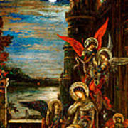 St Cecilia The Angels Announcing Her Coming Martyrdom Poster by Gustave Moreau