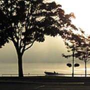 St. Clair Sunrise With Fog Poster