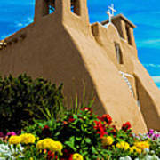 St Francis D'asis Mission Church. Taos New Mexico Poster