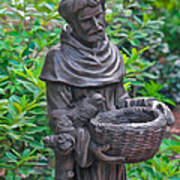 St Francis Of Assisi Garden Statute Poster