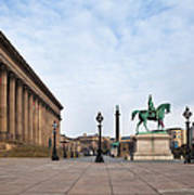 St Georges Hall, Liverpool, Merseyside Poster