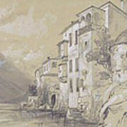 St Giulio Orta Poster by Edward Lear