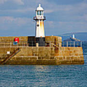 St Ives And Godrevy Lighthouses Cornwall Poster