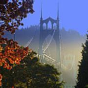 St. Johns Bridge Poster by DerekTXFactor Creative