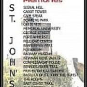 St. John's Memories Poster