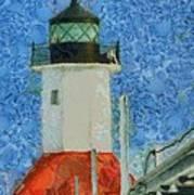 St. Joseph Lighthouse Lake Michigan Poster