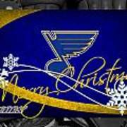 St Louis Blues Christmas Poster