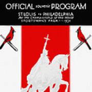 St. Louis Cardinals 1931 World Series Program Poster