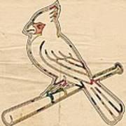 St Louis Cardinals Logo Art Poster