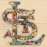 St Louis Cardinals Logo Vintage Poster