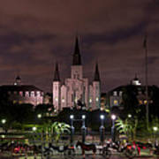 St. Louis Cathedral In Jackson Square Poster