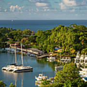 St Lucia Harbor Poster