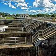St Lucie Lock And Dam Poster by Dan Dennison