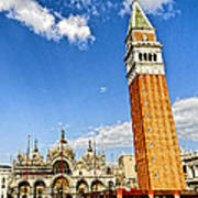 St Marks Square - Venice Italy Poster