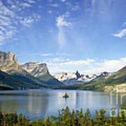 St. Mary Lake And Wild Goose Island Poster