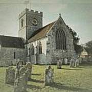 St Marys Church Dinton And Churchyard Poster