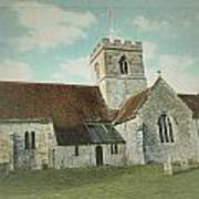 St Marys Church Dinton Wiltshire Poster