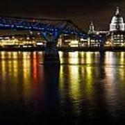 St Pauls And Millenium Bridge Poster