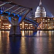 St Pauls And Millennium Bridge Poster