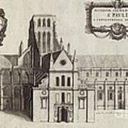 St Paul's Cathedral, 17th Century Artwork Poster