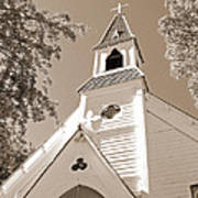 St. Paul's Church Port Townsend In Sepia Poster