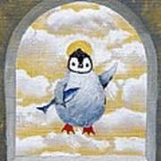 St Penguin Bringer Of Fish Poster