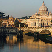 St Peter Morning Glow - Impressions Of Rome Poster