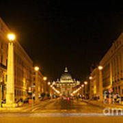 St. Peter's Basilica. Via Della Conziliazione. Rome Poster by Bernard Jaubert