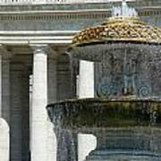 St Peters Square Fountain Poster
