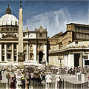 St Peters Square - Vatican Poster by Jon Berghoff