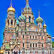 St Petersburg Church Poster