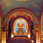 St Photios Greek Shrine Poster by Elizabeth Hoskinson