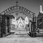 St Roch's Cemetery Bw Poster