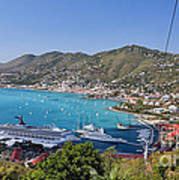 St Thomas Panorama Poster by George Oze