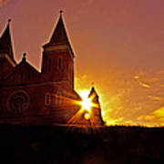 St Vincent Basilica At Sunset Poster