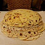 Stack Of Lefse Rounds Poster