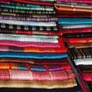 Stacks Of Colorful Shawls Poster