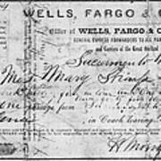 Stagecoach Ticket 1868 Poster