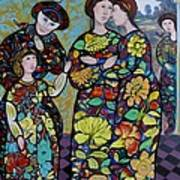 Stain Glass Women Poster