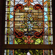 Stained Glass 3 Panel Vertical Composite 02 Poster by Thomas Woolworth