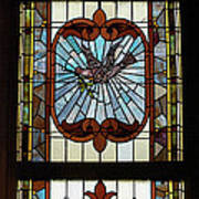 Stained Glass 3 Panel Vertical Composite 03 Poster