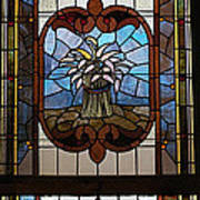 Stained Glass 3 Panel Vertical Composite 04 Poster by Thomas Woolworth