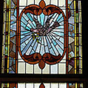 Stained Glass 3 Panel Vertical Composite 05 Poster by Thomas Woolworth